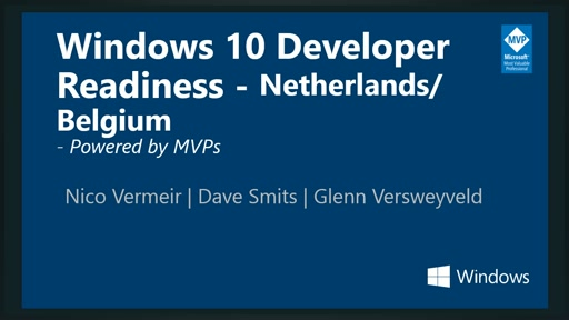 Windows 10 Developer Readiness [Netherlands/Belgium]