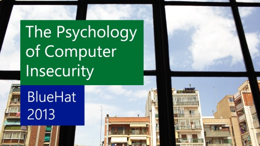 The Psychology of Computer Insecurity