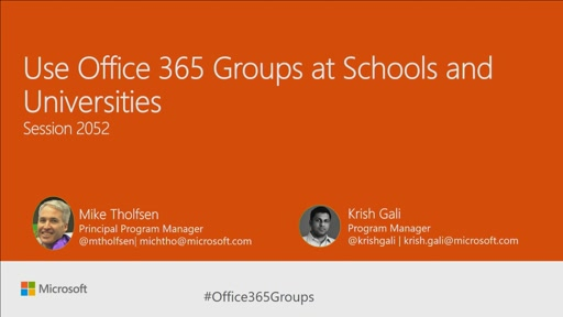 Use Office 365 Groups at schools and universities