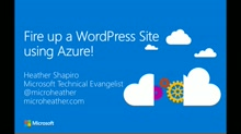 Create a WordPress Site Using Azure