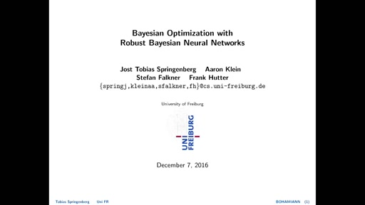 Bayesian Optimization with Robust Bayesian Neural Networks