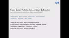 Protein contact prediction from amino acid co-evolution using convolutional networks for graph-valued images