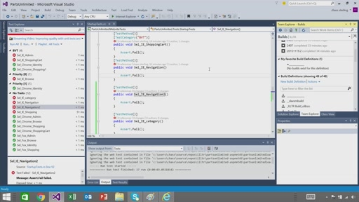 Unit Testing from a CI Build with Visual Studio Team Services