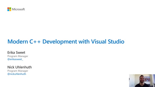 Modern C++ development with Visual Studio