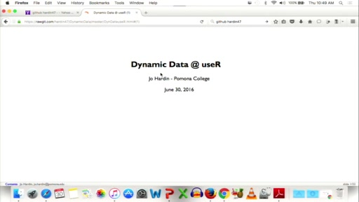 Dynamic Data in the Statistics Classroom