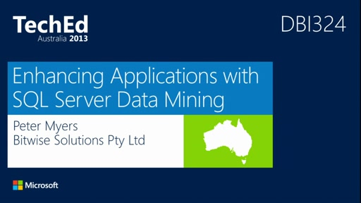 Enhancing Applications with SQL Server Data Mining