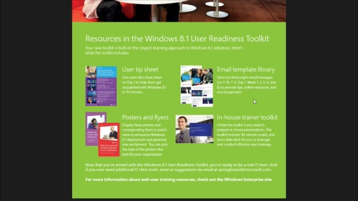 Windows 8.1 User Readiness Toolkit: (02) Roadmap + Overview