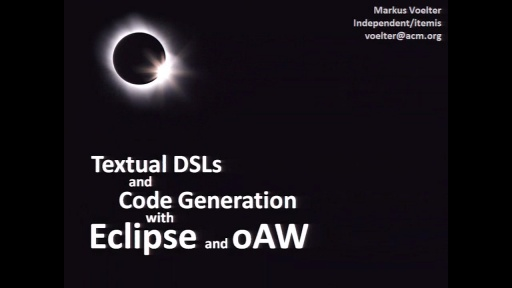 Textual DSLs and Code Generation with Eclipse Tools