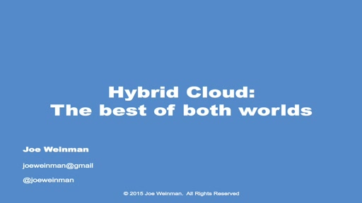 Hybrid Cloud: The Best of Both Worlds