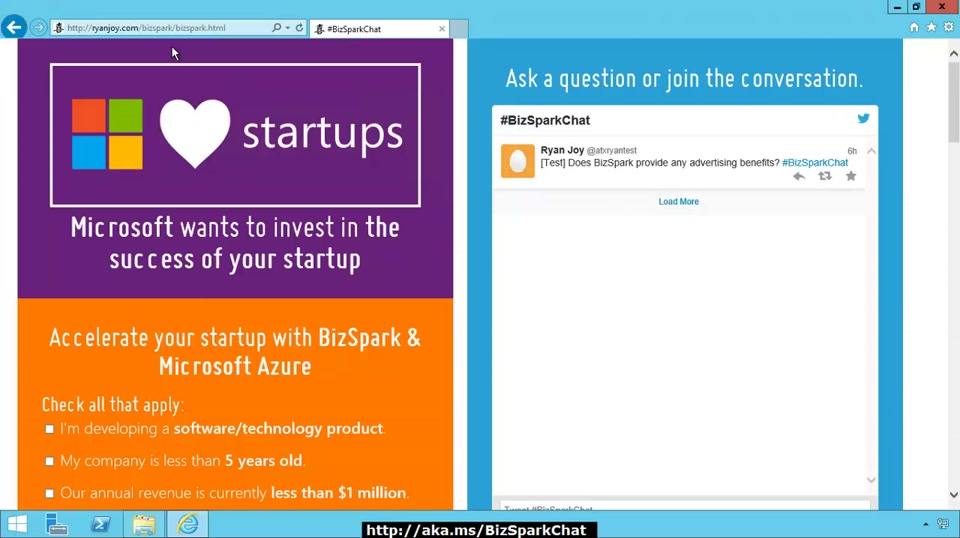 Getting Started with BizSpark