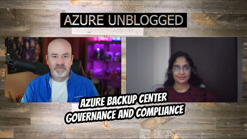 Azure Backup Center - Backups and Good Governance
