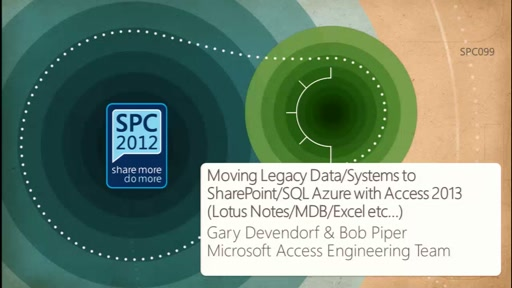 Moving Legacy Data/Systems to SharePoint/SQL Azure with Access 2013 (Lotus Notes/MDB/Excel etc…)