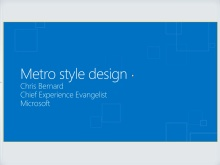 Designing apps with Metro style principles and the Windows personality