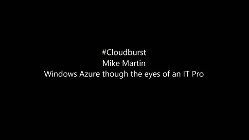 Windows Azure though the eyes of an IT Pro