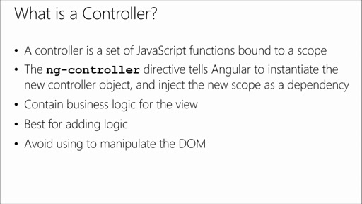 Introduction to AngularJS: (02) Angular Controllers
