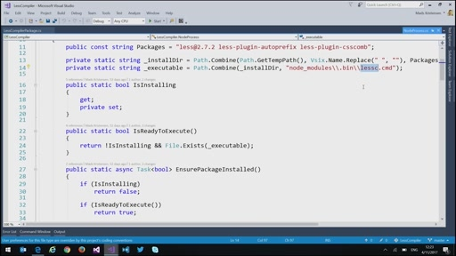 Compiling LESS in Visual Studio with Mads Kristensen