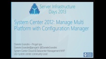 SC02 - System Center 2012 Manage Multi Platform with Configuration Manager