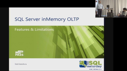 SQL Saturday 280 - SQL 2014 InMemory OLTP