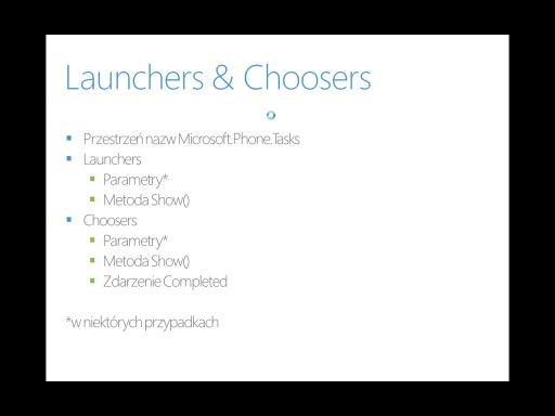 Kurs Windows Phone 7 - Część 7 - Launchers & Choosers