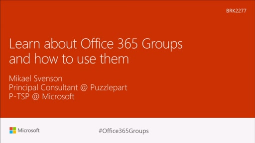 Learn about Office 365 Groups and how to use them