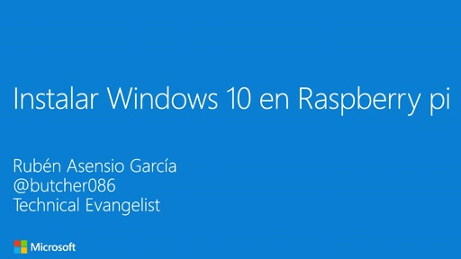 Windows 10 IoT Core en Raspberry Pi 2