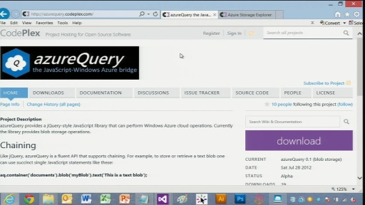 David Pallmann Demonstrates azureQuery