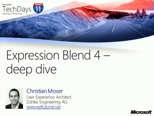 TechDays 11 Basel - Expression Blend 4 – deep dive