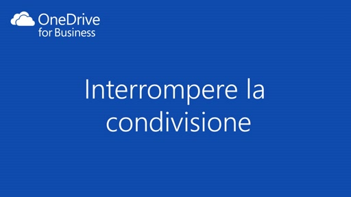 OneDrive for Business || Interrompere la condivisione di un documento