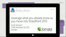 Leverage what you already know about SharePoint as you move into 2013