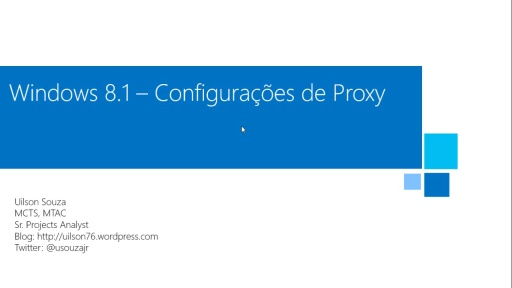 Recurso de Proxy no Windows 8.1