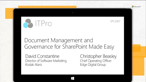 Kodak Alaris: Document Management and Governance for SharePoint Made Easy