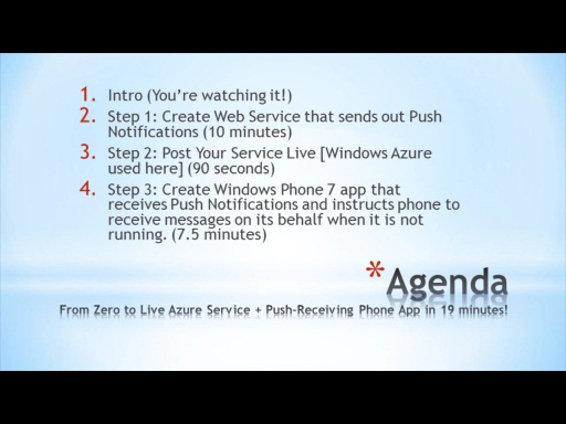 Windows Phone 7 Push Notification QuickApp / Web Service (With Azure Publishing Instructions!)