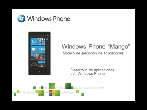 Modelo de ejecución de Windows Phone