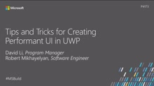 Tips and tricks for creating performant UI in UWP