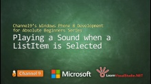 Part 15: Playing a Sound when a ListItem is Selected