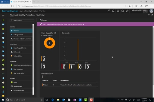 Enable Azure AD Identity Protection