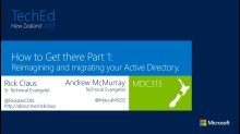 How to Get there Part 1! Reimagining and migrating your Active Directory.