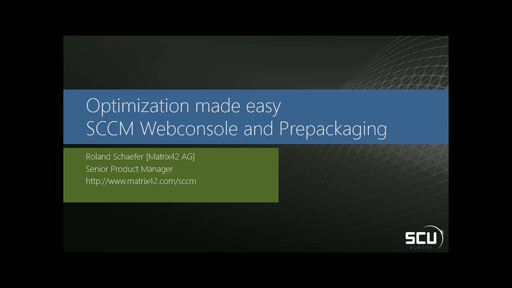 Sponsored Session MATRIX42 - Web Console for SCCM - easyness and delegation