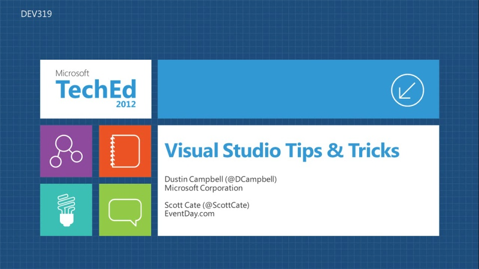 Visual Studio Tips & Tricks