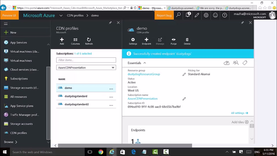 Creating a CDN Endpoint with Azure CDN from Akamai
