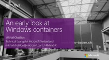 An early look at Containers (en)