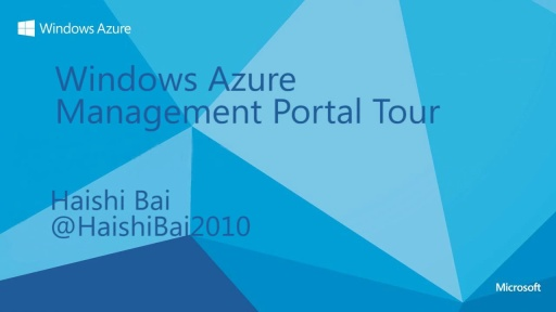 Walkthrough of the Management Portal for Windows Azure Cloud