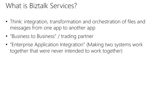 Microsoft Azure Fundamentals: Virtual Machines: (32) Tour of App Services: BizTalk Services