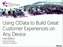 TechDays 11 Bern - Using OData to build great customer experiences on any device