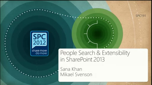 People Search and Extensibility in SharePoint 2013