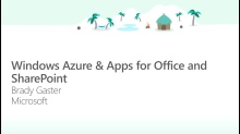 Windows Azure & Apps for Office and SharePoint
