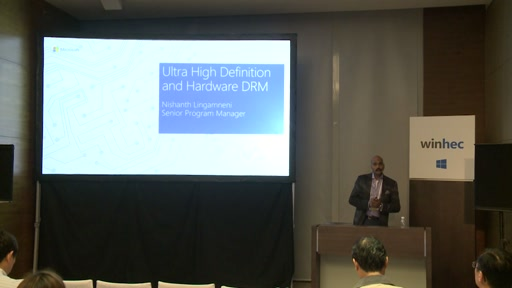 Ultra High Definition (UHD) and Hardware DRM Investments in Windows 10