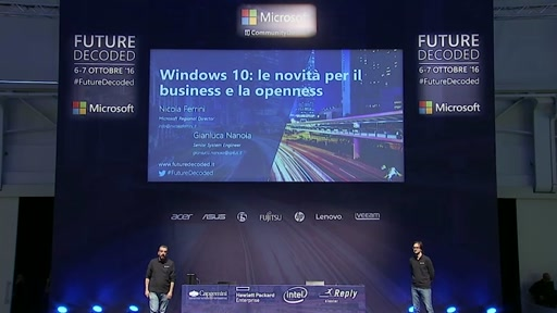 #FutureDecoded 6 Ottobre 2016 - Windows 10: le novità per il business e la openness