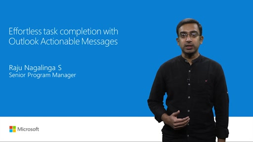 Effortless task completion with Outlook Actionable Messages
