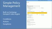 Office 365 Security and Compliance: Exchange Online Protection: (04) Exchange Transport Rules